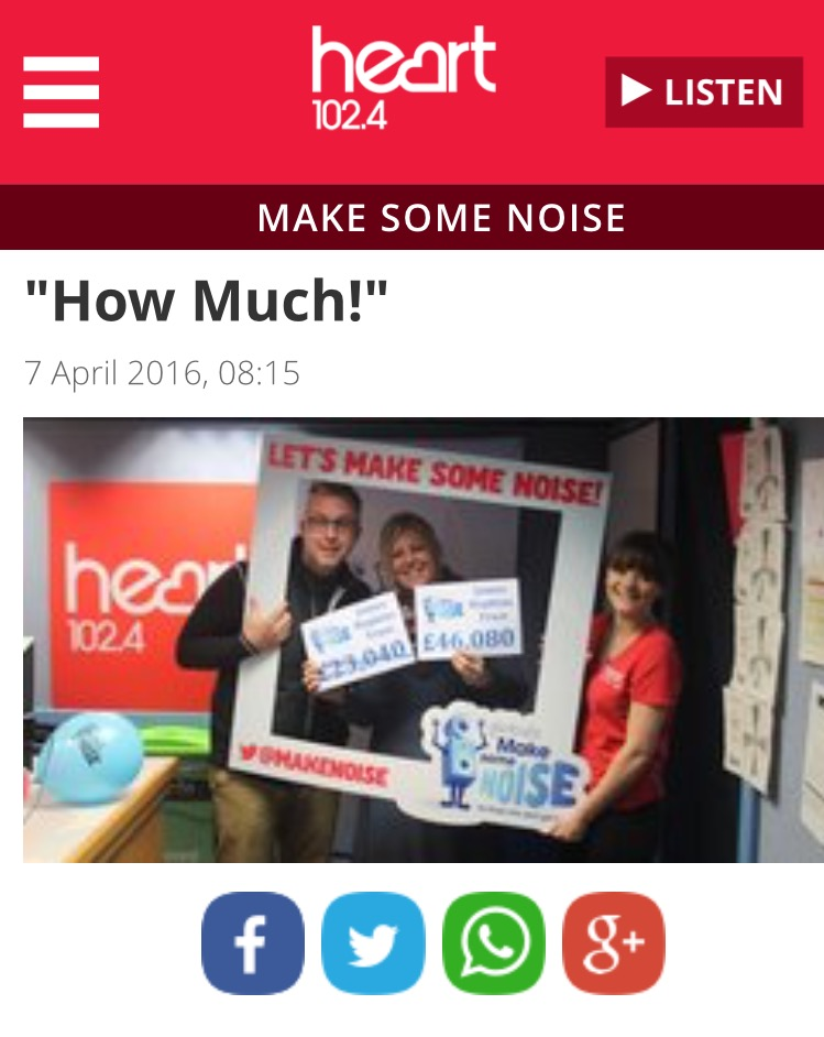 Global Make Some Noise donation