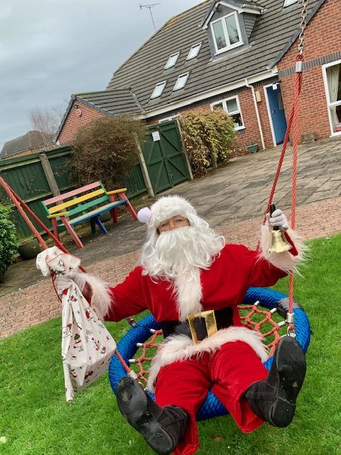 Social distanced Santa visits